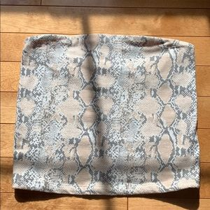 snake/alligator print tube top from American Eagle